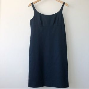 J.Crew LBD Black Suit Dress Sleeveless Cotton SZ 6